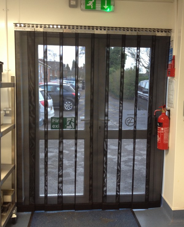 heavy duty strip mesh fly door