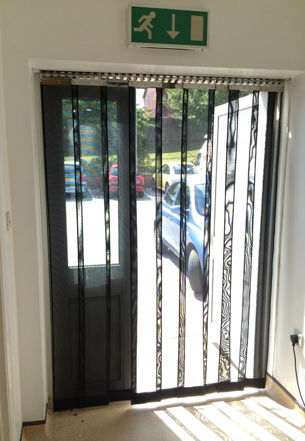 commercial fly screen door