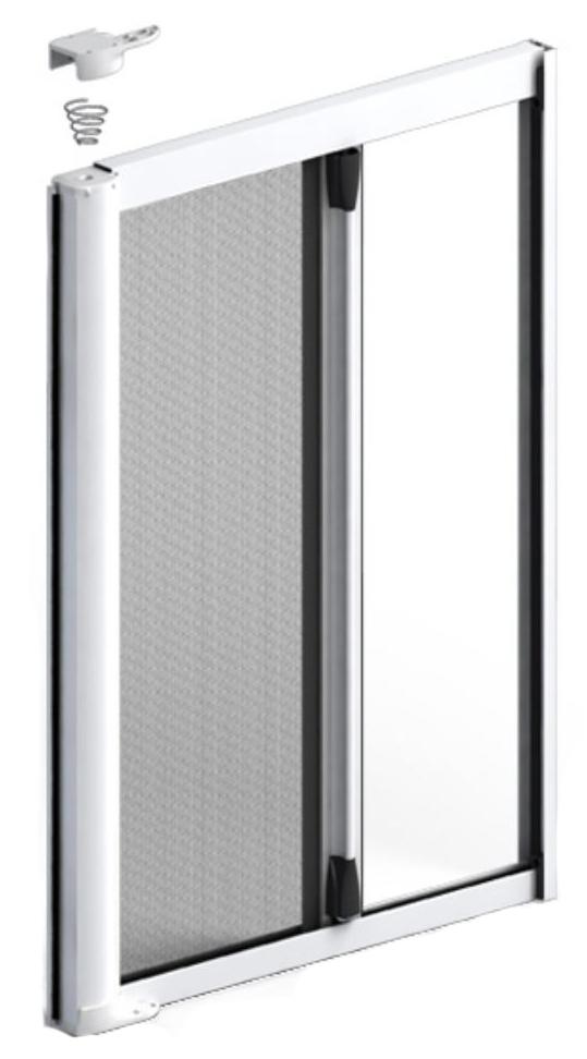 Single roller fly screen door