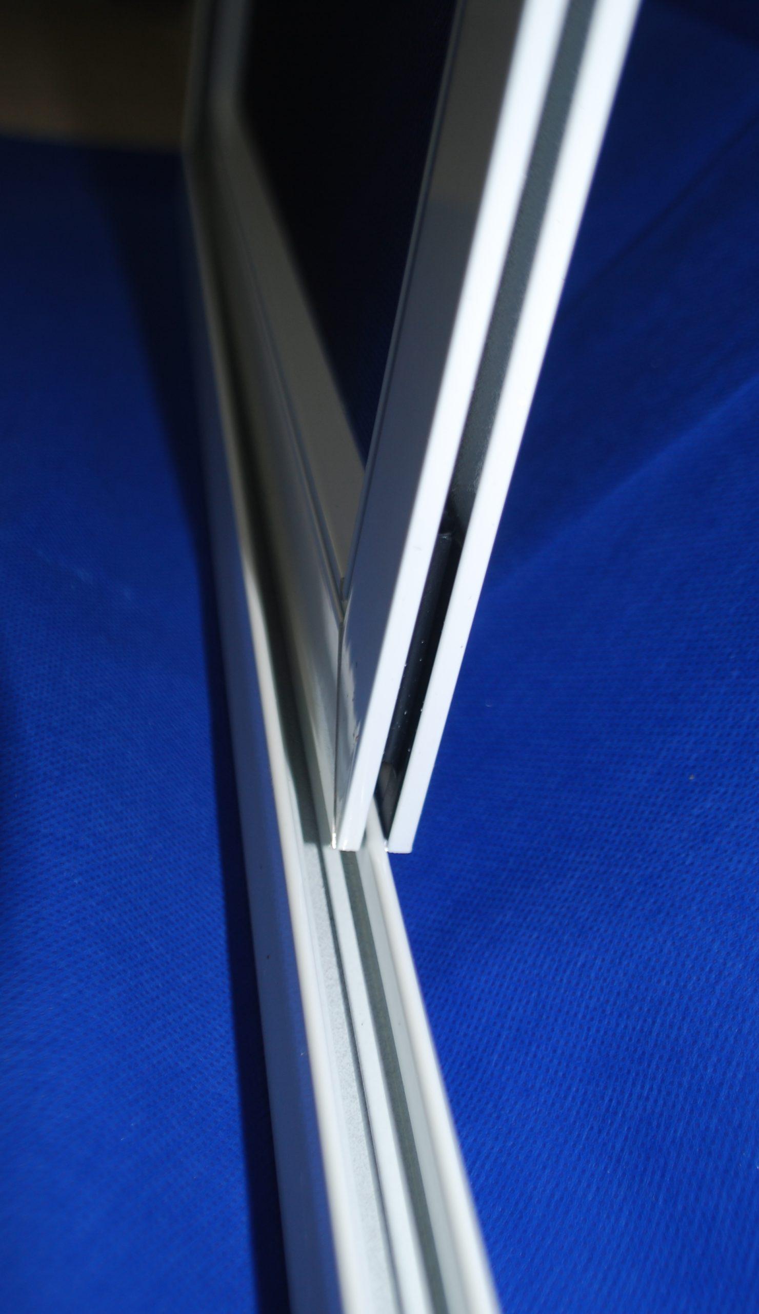 Slim sliding fly screen frame