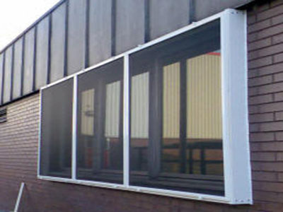 UPVC canopy fly screen