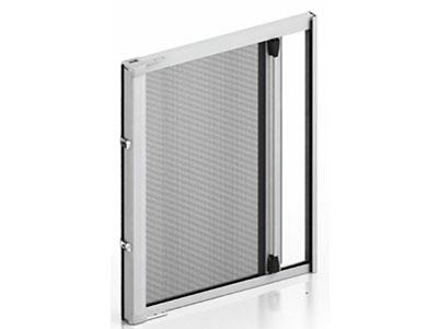 Roller fly screen door